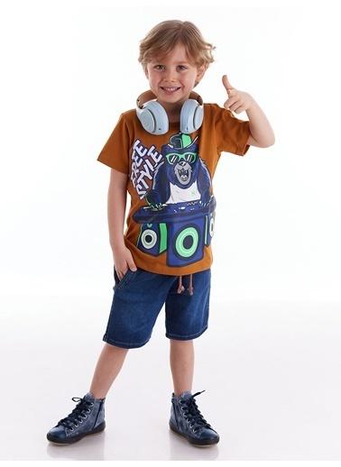 Mushi Dj Erkek Çocuk Tshirt-Kot Şort Takım Renkli